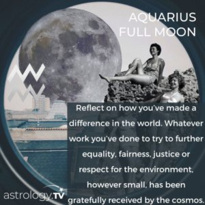 Full Moon in Aquarius:Time for Equality and Democracy